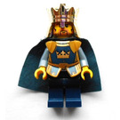 LEGO King with Golden Crown and Dark Blue Cape Minifigure