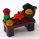 LEGO Kingdoms Advent Calendar Set 7952-1 Subset Day 23 - Cooking Table with Frying Pan