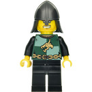 LEGO Knight with Bared Teeth, Helmet with Neck Protector, Dragon on Shirt and Black Legs Minifigure