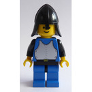 LEGO Knight with Breastplate, Blue Tunic and Legs, Black Arms and Hips, and Nect Protector Helmet Minifigure