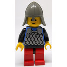 LEGO Knight with Chainmail, Black Hips, Red Legs and Neck Protector Helmet Minifigure