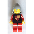 LEGO Knights Tournament Knight Black, Red Legs with Black Hips, Helmet with Neck-Protector Minifigure Reissue