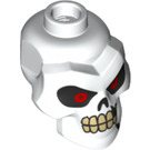 LEGO Kruncha skeleton Minifigure Head with Red Eyes, Cracks and Missing Tooth (43938)