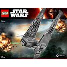 LEGO Kylo Ren's Command Shuttle Set 75104 Instructions