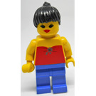 LEGO Lady with Red Halter Top and Black Hair Minifigure