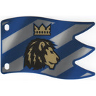 LEGO Large Striped Plastic Flag with Lion and Crown
