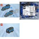 LEGO Large Train Engine and Tender with Blue Bricks Set