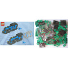 LEGO Large Train Engine with Green Bricks Set
