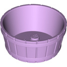 LEGO Lavender Barrel with Axle Hole (64951)