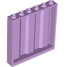 LEGO Lavender Panel 1 x 6 x 5 with Corrugation (23405)