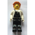 LEGO Lee with Black Overall and Orange Hair Minifigure