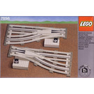 LEGO Left and Right Manual Points with Electric Rails Grey 12V Set 7856