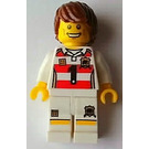 LEGO Lego Brand Store Male, Rugby Shirt With Black Number '1' Minifigure