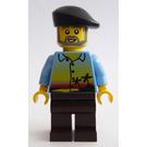 LEGO Legoland Train Male Passenger, Hawaiian Shirt Minifigure