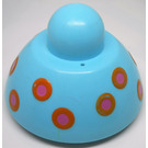 LEGO Light Blue Primo Small Stacking Base round with dots
