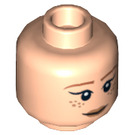 LEGO Light Flesh April O'Neil Plain Head (Recessed Solid Stud) (13000)