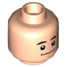 LEGO Light Flesh Chandler Bing Plain Head (Recessed Solid Stud) (66371)