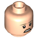 LEGO Light Flesh Ellie Sattler Plain Head (Recessed Solid Stud) (38678)