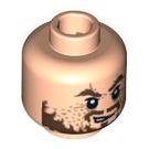 LEGO Light Flesh Hector Barbossa Head (Recessed Solid Stud) (96293 / 97985)