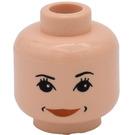 LEGO Light Flesh Hermione Granger Minifigure Female Head with Decoration (Safety Stud)