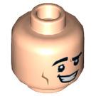 LEGO Light Flesh Joey Tribbiani Plain Head (Recessed Solid Stud) (66381)