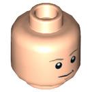LEGO Light Flesh Luke Skywalker (75093) Plain Head (Recessed Solid Stud) (21117)