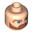 LEGO Light Flesh Minifigure Head Cartoon Style with Thick Beard (Safety Stud) (63559)