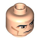 LEGO Minifigure Head with Decoration (Safety Stud) (63154 / 76701)