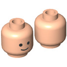LEGO Light Flesh Minifigure Head with Standard Grin Pattern (Recessed Solid Stud) (55368)