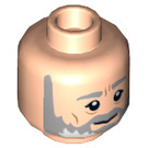 LEGO Light Flesh Obi Wan Kenobi Plain Head (Recessed Solid Stud) (17873)