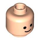 LEGO Light Flesh Plain Head with Basic Eyes and Smile (Safety Stud) (55368)