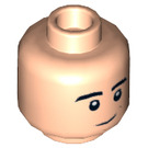 LEGO Light Flesh Plain Head with Decoration (Recessed Solid Stud) (18408)