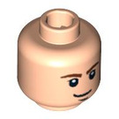LEGO Light Flesh Plain Head with Decoration (Safety Stud) (89168)