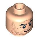 LEGO Light Flesh Plain Head with Decoration (Safety Stud) (90752)