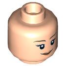 LEGO Plain Head with Decoration (Safety Stud) (92882 / 93199)