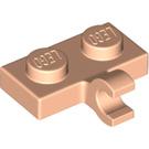 LEGO Light Flesh Plate 1 x 2 with Horizontal Clip (65458)