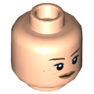 LEGO Light Flesh Rey Plain Head (Recessed Solid Stud) (23783)
