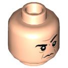 LEGO Light Flesh Severus Snape Plain Head (Recessed Solid Stud) (39445)