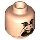 LEGO Light Flesh Underminer Plain Head (Recessed Solid Stud) (38156)