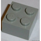 LEGO Light Gray Brick 2 x 2 (Earlier, without Cross Supports)