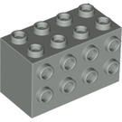 LEGO Light Gray Brick 2 x 4 x 2 with Studs on Sides (2434)