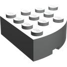 LEGO Light Gray Brick 4 x 4 Corner Round (2577)