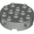 LEGO Light Gray Brick 4 x 4 Round with Holes (6222)