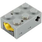 LEGO Light Gray Electric Touch Sensor Brick 3 x 2