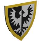 LEGO Light Gray Minifig Shield Triangular with Black Falcon Yellow Bdr