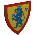 LEGO Light Gray Minifig Shield Triangular with Blue Lion on Yellow