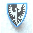 LEGO Light Gray Minifig Shield Triangular with Falcon Pattern, Blue Surround