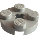 LEGO Light Gray Plate 2 x 2 Round with Axle Hole (with '+' Axle Hole) (4032)