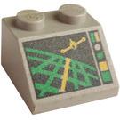 LEGO Light Gray Slope 2 x 2 (45°) with Aircraft Radar Control