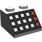 LEGO Slope 2 x 2 (45°) with Square Buttons and Red LEDs (3039)